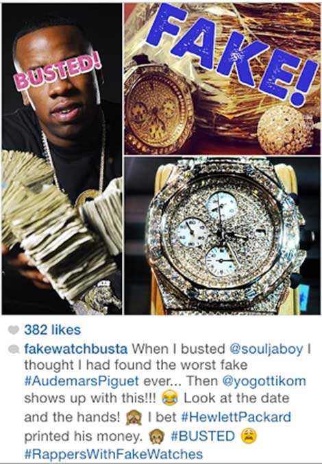 Rapper rick ross future soulja boy make rappers w fake for Rapper watches