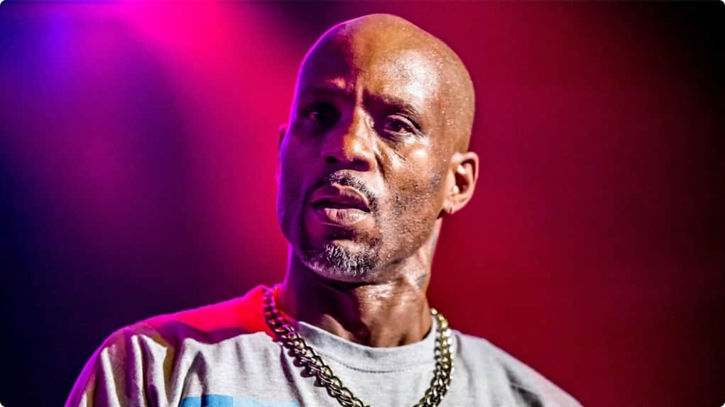dmx falls off stage
