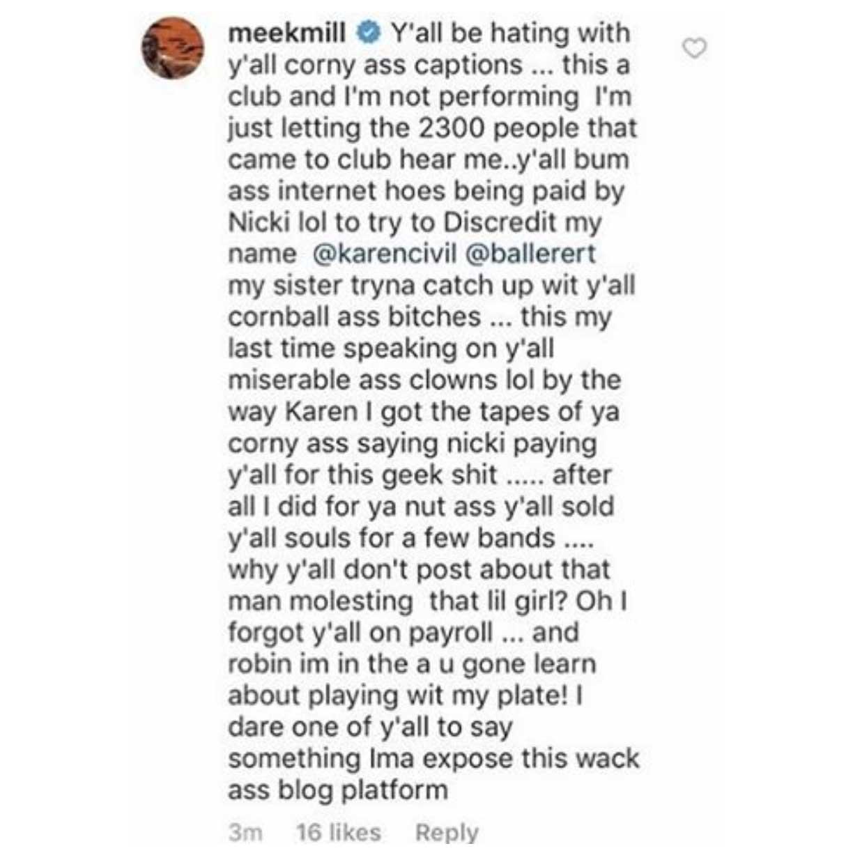 Meek Mill vs Karen Civil Baller Alert