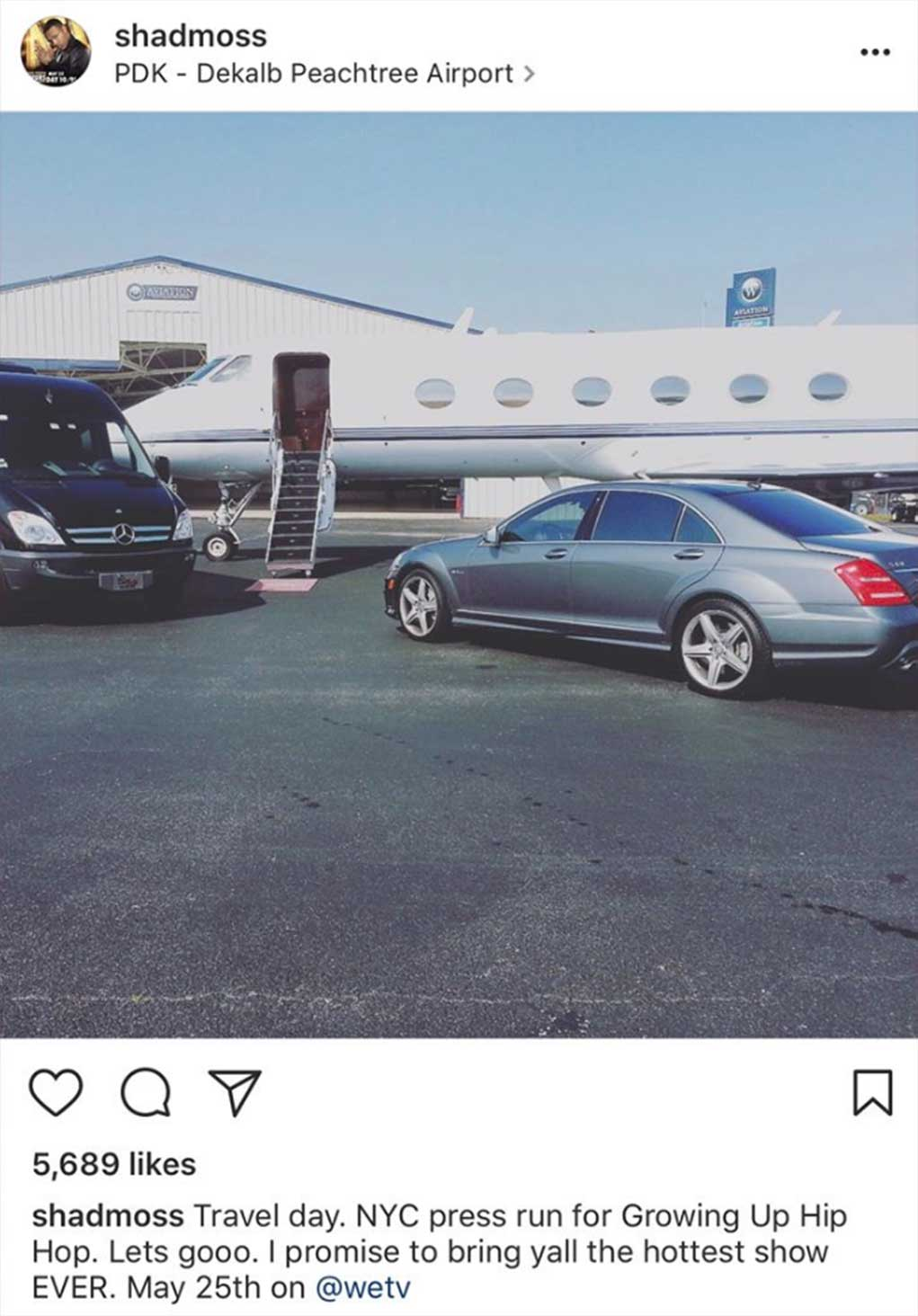 Bow Wow Private Jet