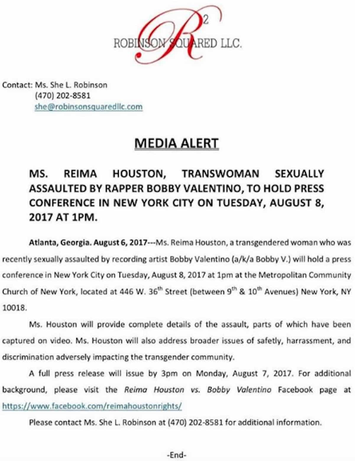 bobby v trans escort news conference