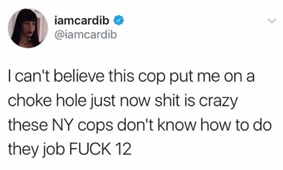 cardi b nypd cops assault