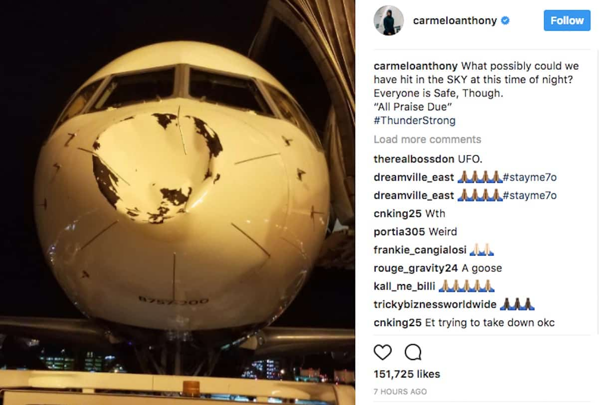 oklahoma city thunder plane accident