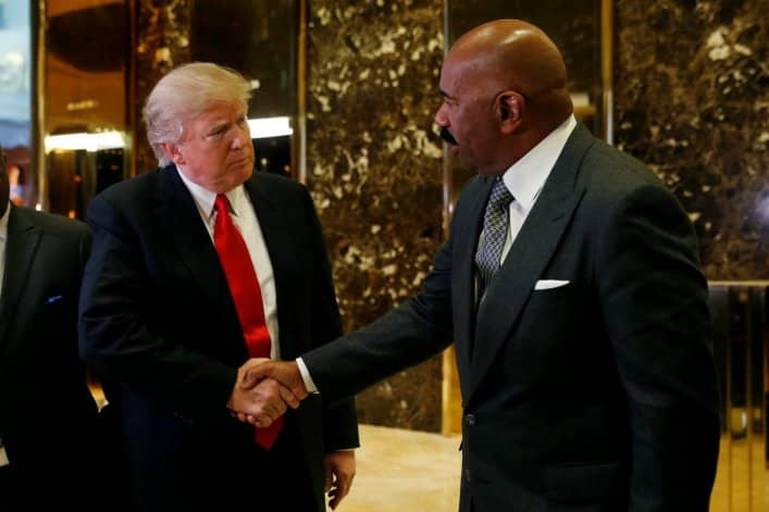 steve harvey donald trump woke
