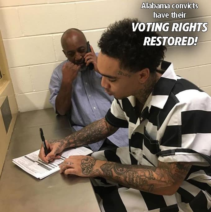 Alabama Convicts Can Vote