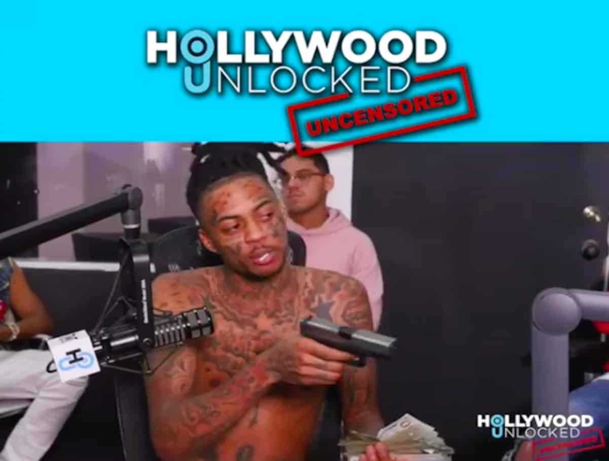 wtf   rapper boonk brings a gun to interview  u0026 points it