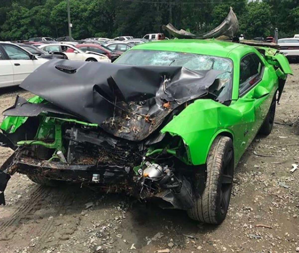 offset car accident