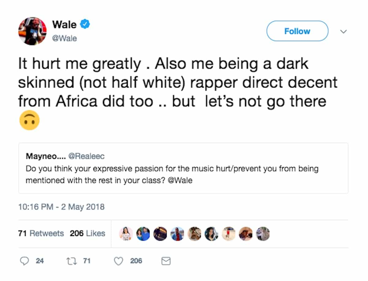 wale dark skinned success