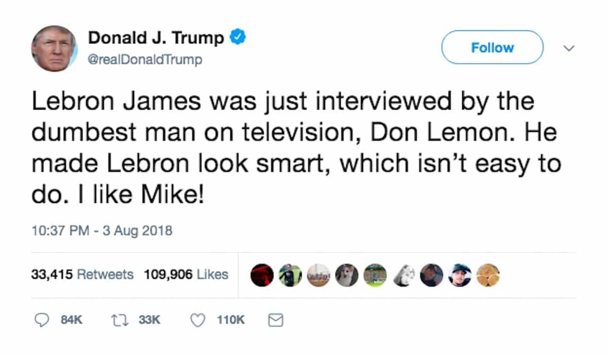 trump don lemon lebron james dumb