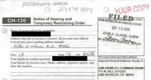 Chasity James Restraining Order
