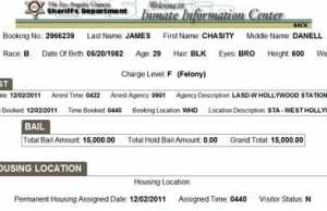 Chasity Danelle James Arrested