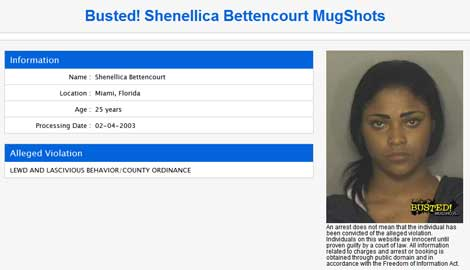 Shenellica Bettencourt Mugshot