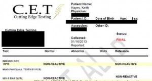 Keith Hayes STD Test Results