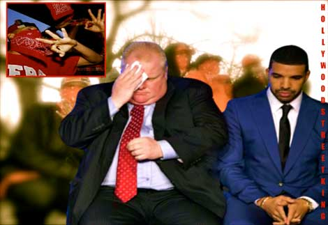 Mayor Rob Ford & Drake Repp'ed By Toronto's Bloods Gang!