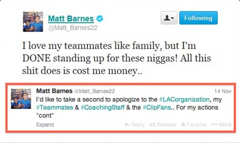 Matt Barnes N-Word