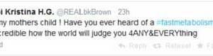 Bobbi Kris Eating Disorder