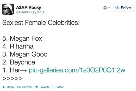 ASAP Rocky Top 5 Sexiest Women
