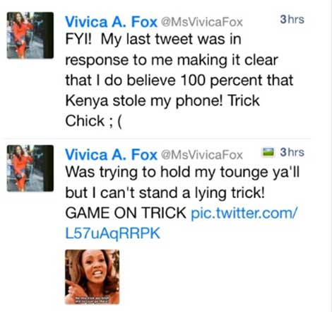 Vivica Foxx Blows Kenya Moore Back