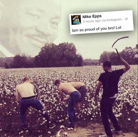 Mike Epps Racist MLK photo