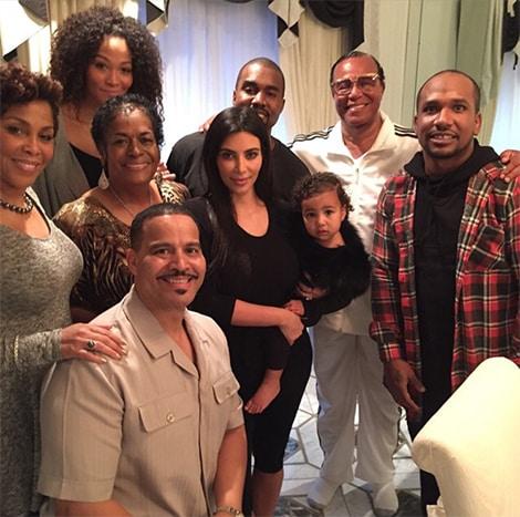 Kanye & Kim Pose with Minister Farrakhan