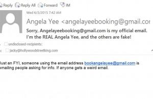 Angela Yee Email Hacked