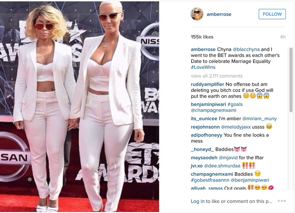 Blac Chyna Amber Rose Gay Marriage