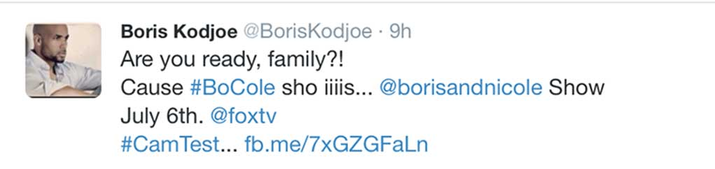 Boris Koejoe Drops BET