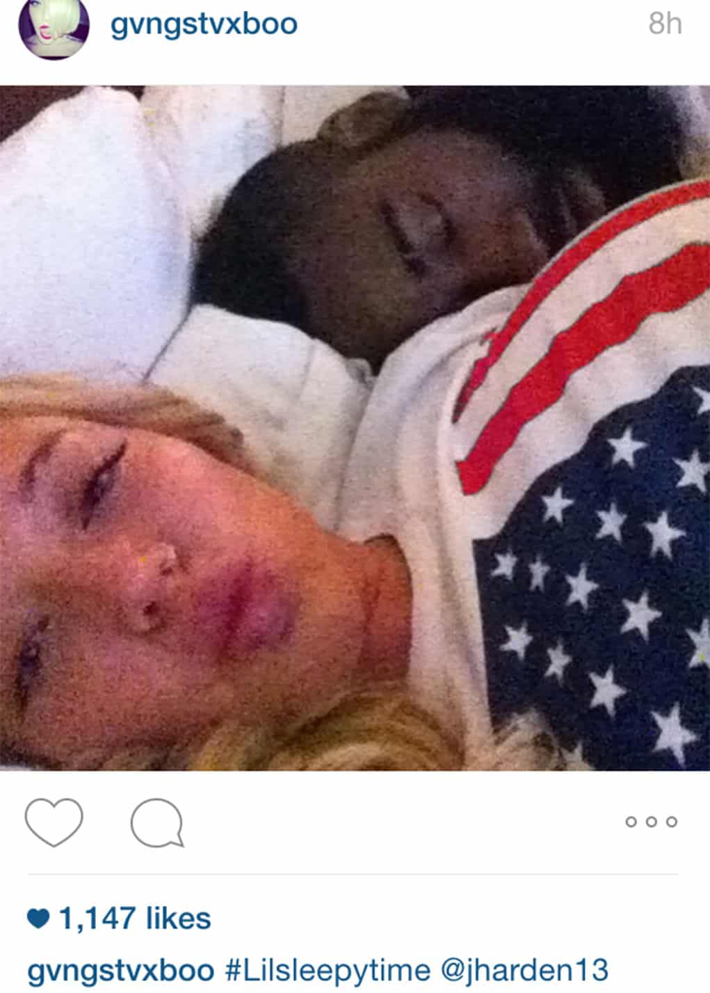 James Harden Farrah Flossit Bed