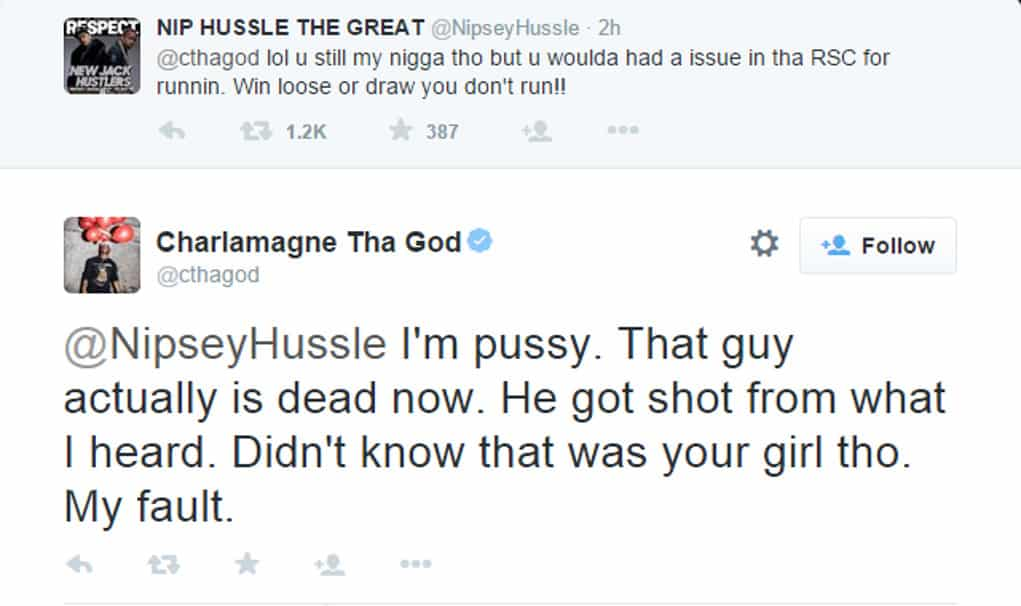 lauren london charlamagne tweet nipsey 2