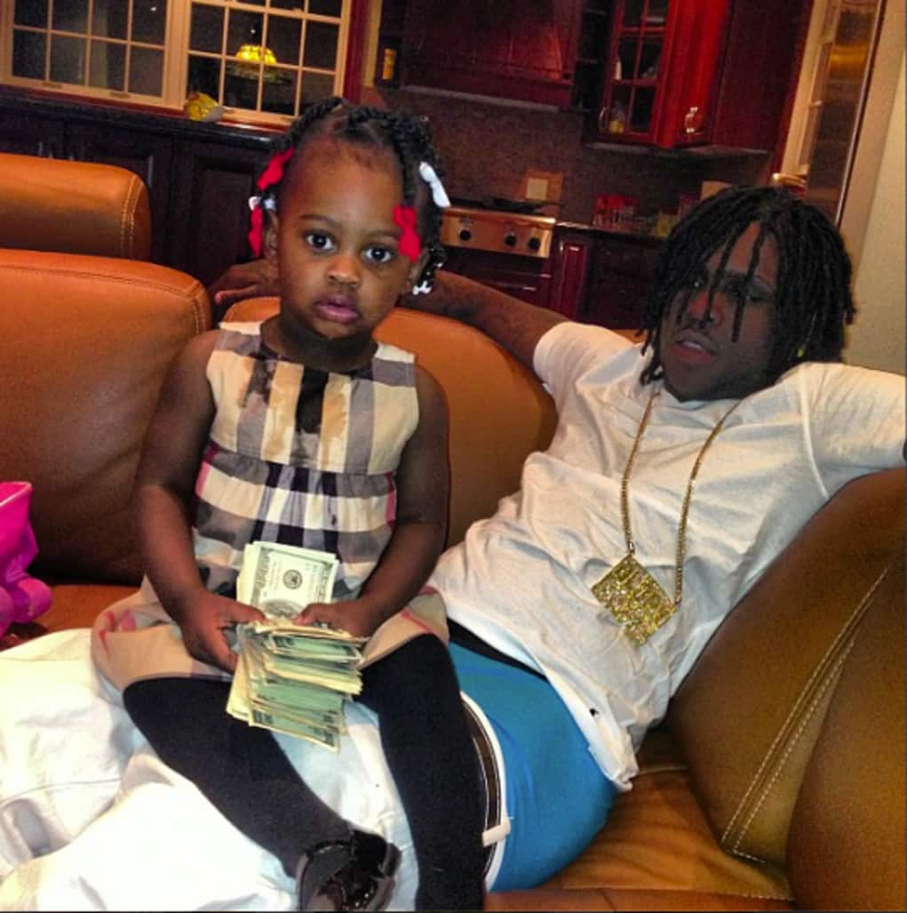 Chief Keef's Baby Mama Stunts $26K Child Support Check