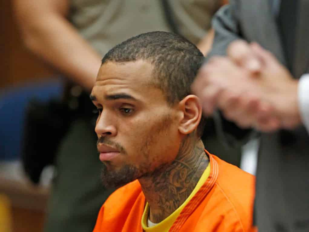 chris brown robbed