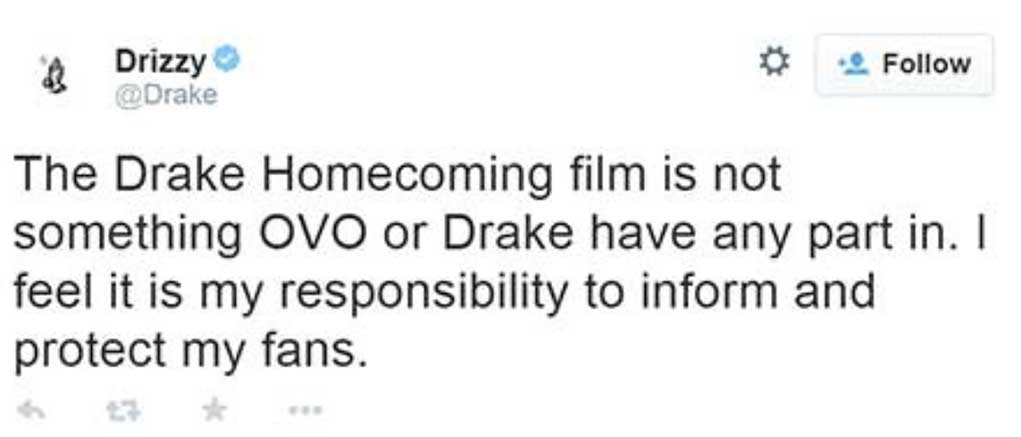 Drake Homecoming Movie