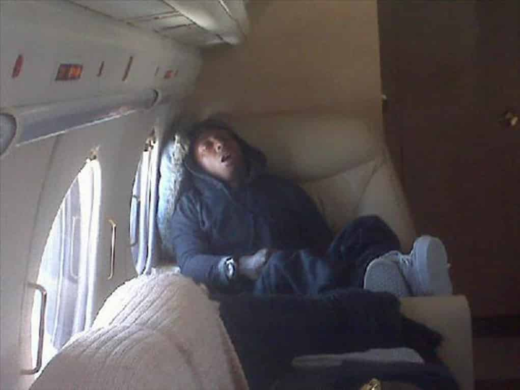 lil wayne high on plane 2