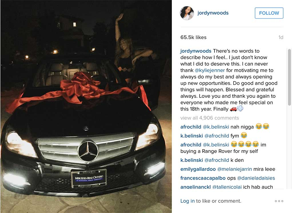 Jordyn-Woods-Birthday-Benz-Funded-By-Kylie-Jenner