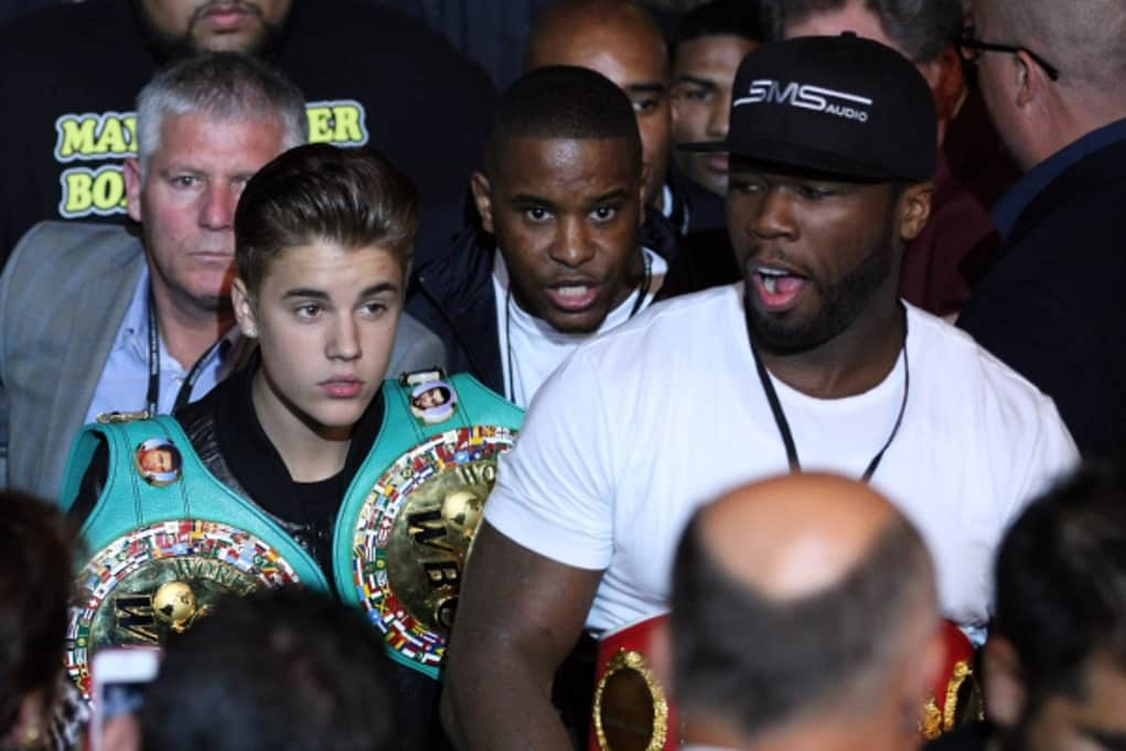 justin bieber mayweather fight 2