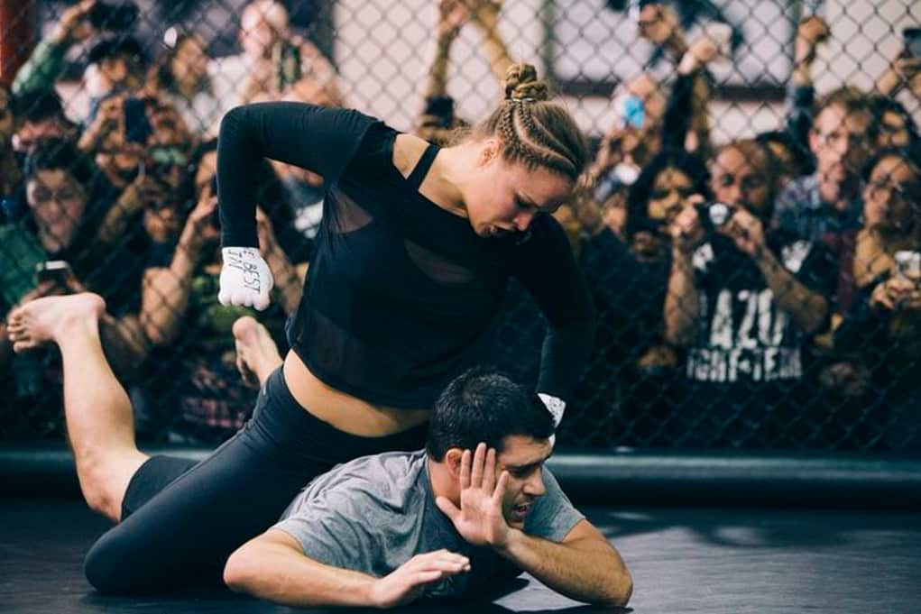 ronda rousey fight men