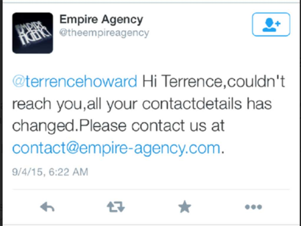 Terrence Howard Dips on Empire Producers