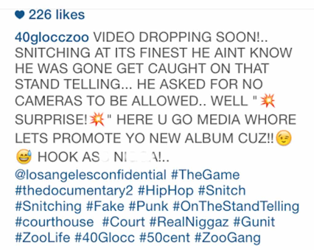 game snitch 40 glocc 2