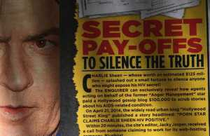 Charlie Sheen Jacky Jasper National Enquirer