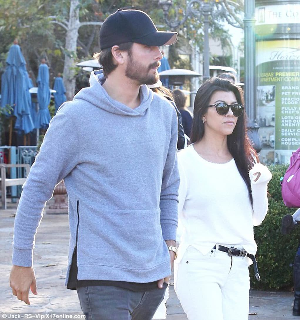 kourtney kardashian scott disick lunch date