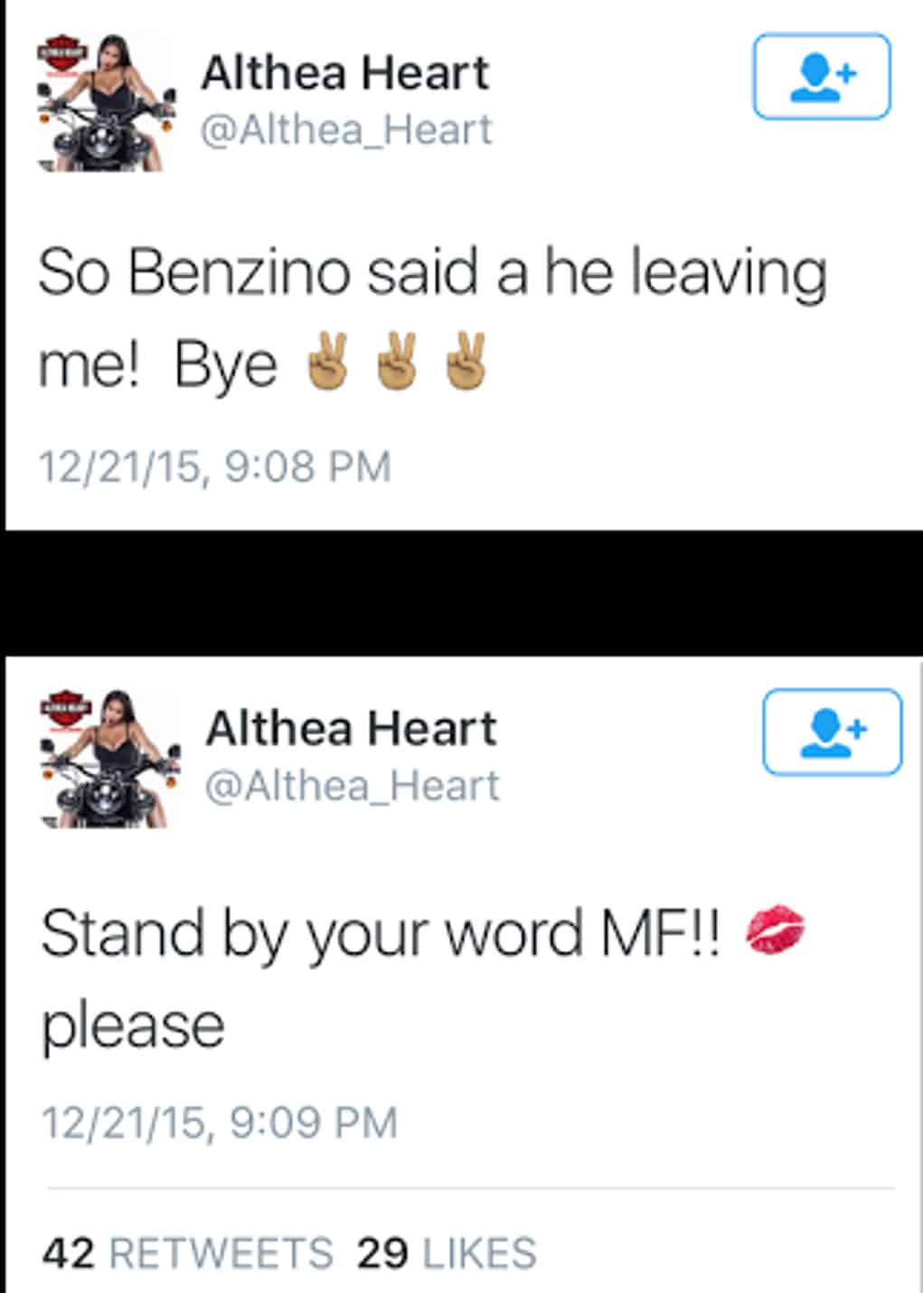 benzino althea heart tweet