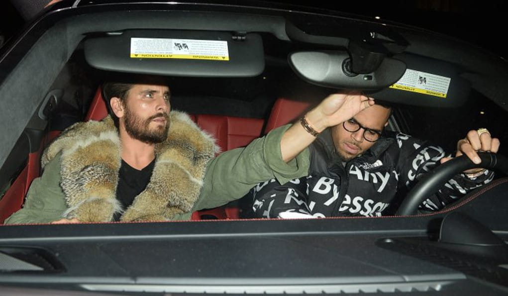 chris brown scott disick
