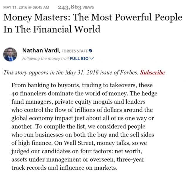Robert Smith: Forbes Most Powerful