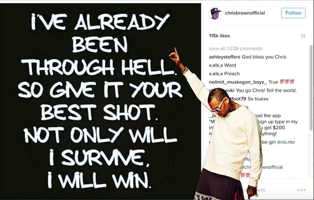 Chris Brown Posts _I WILL WIN_