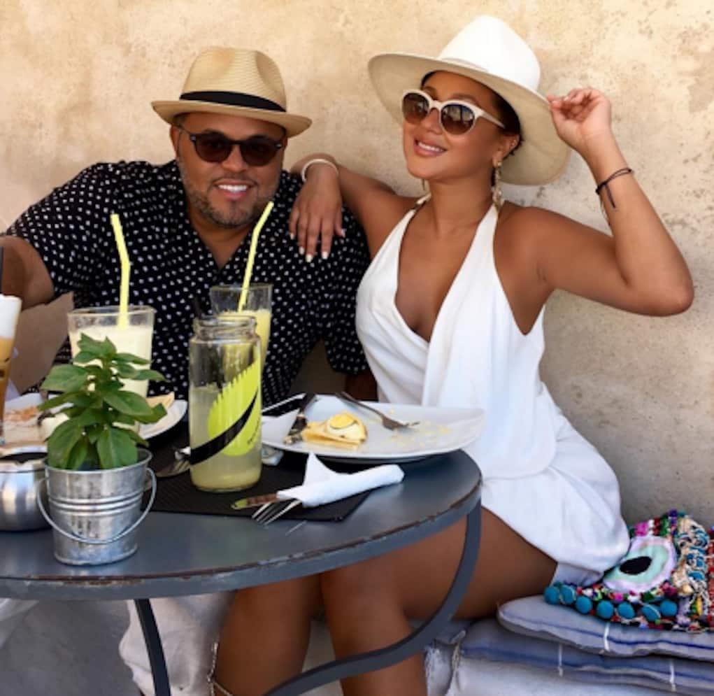 adrienne bailon israel houghton engaged