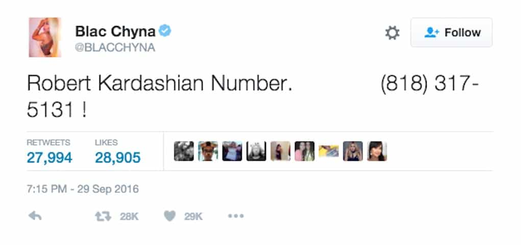 rob kardashian phone number