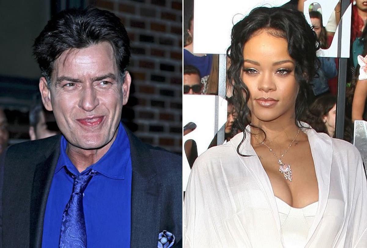 charlie sheen rihanna bitch