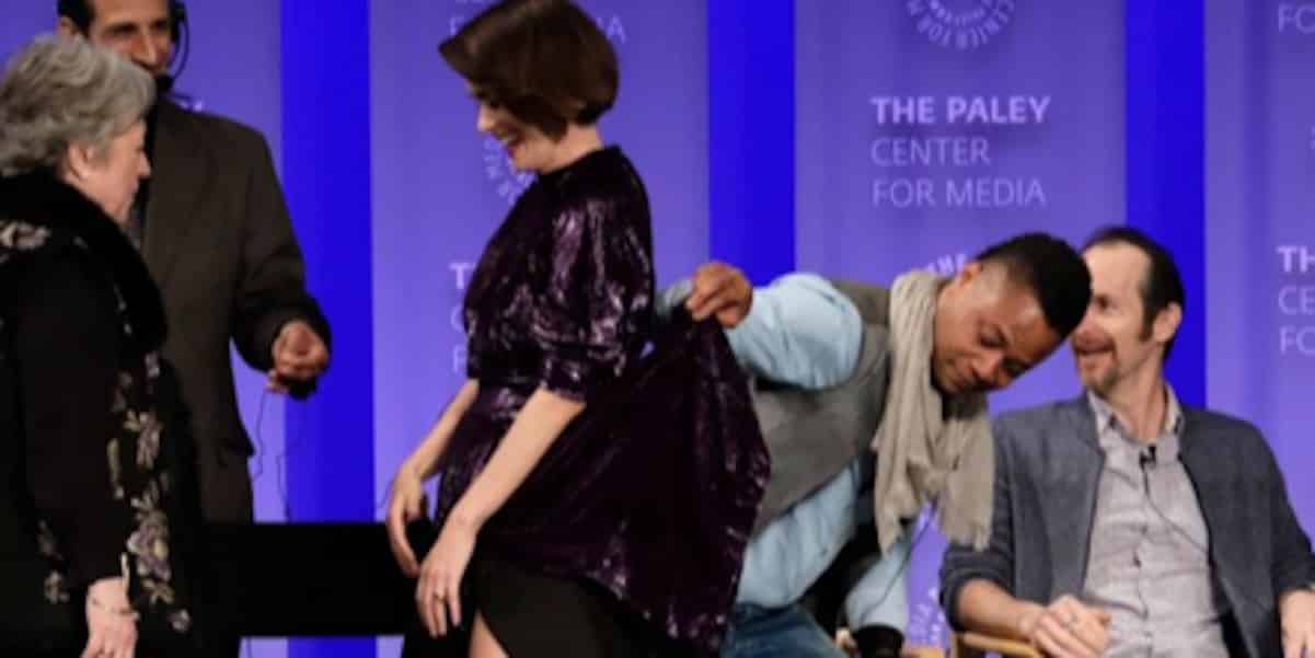 cuba gooding jr lifts co-star skirt