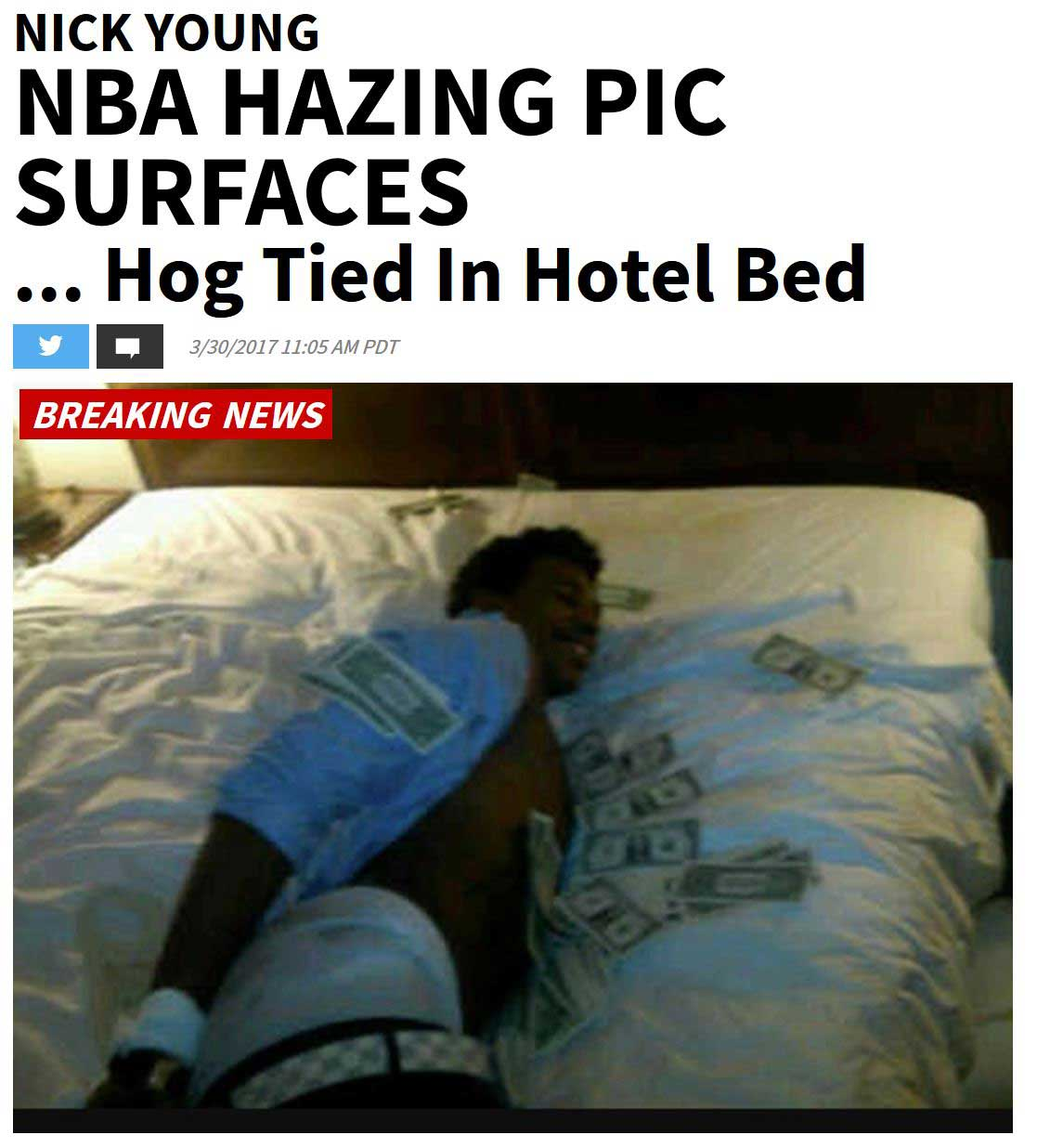 Nick Young Hog Tied