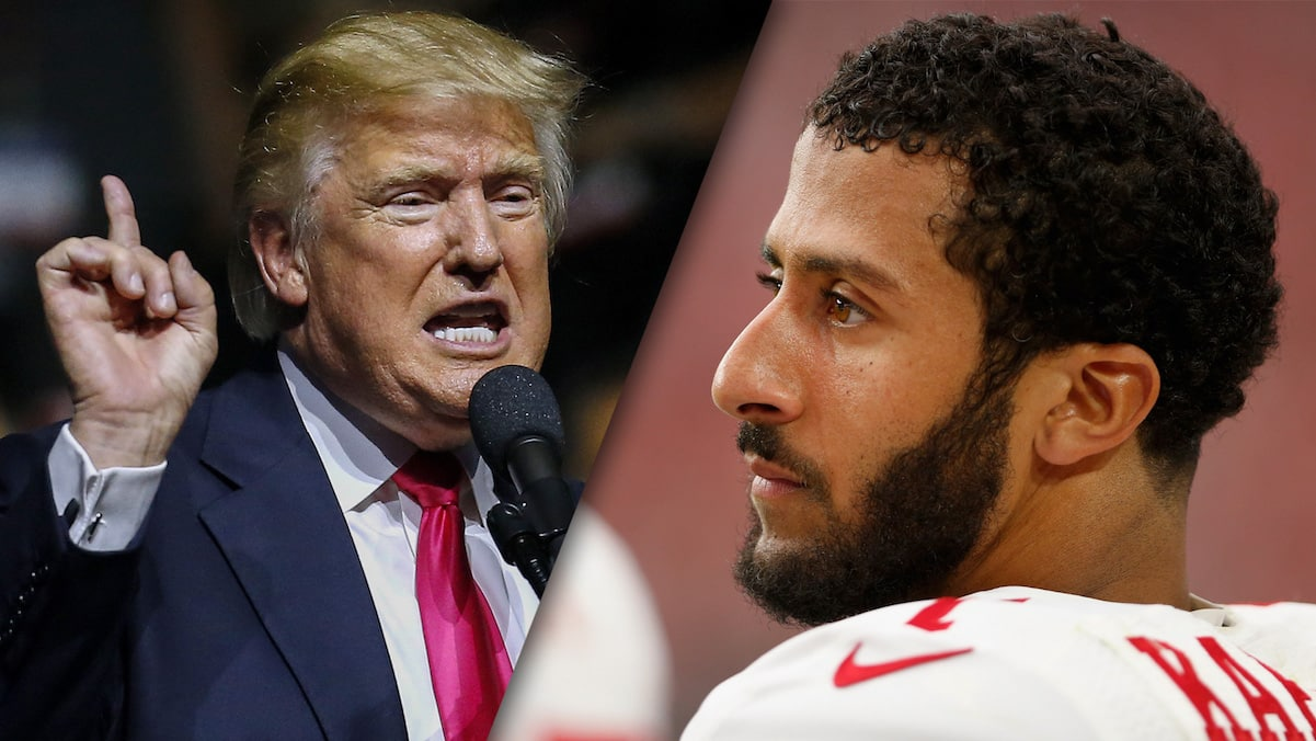 donald trump nfl sons of bitches